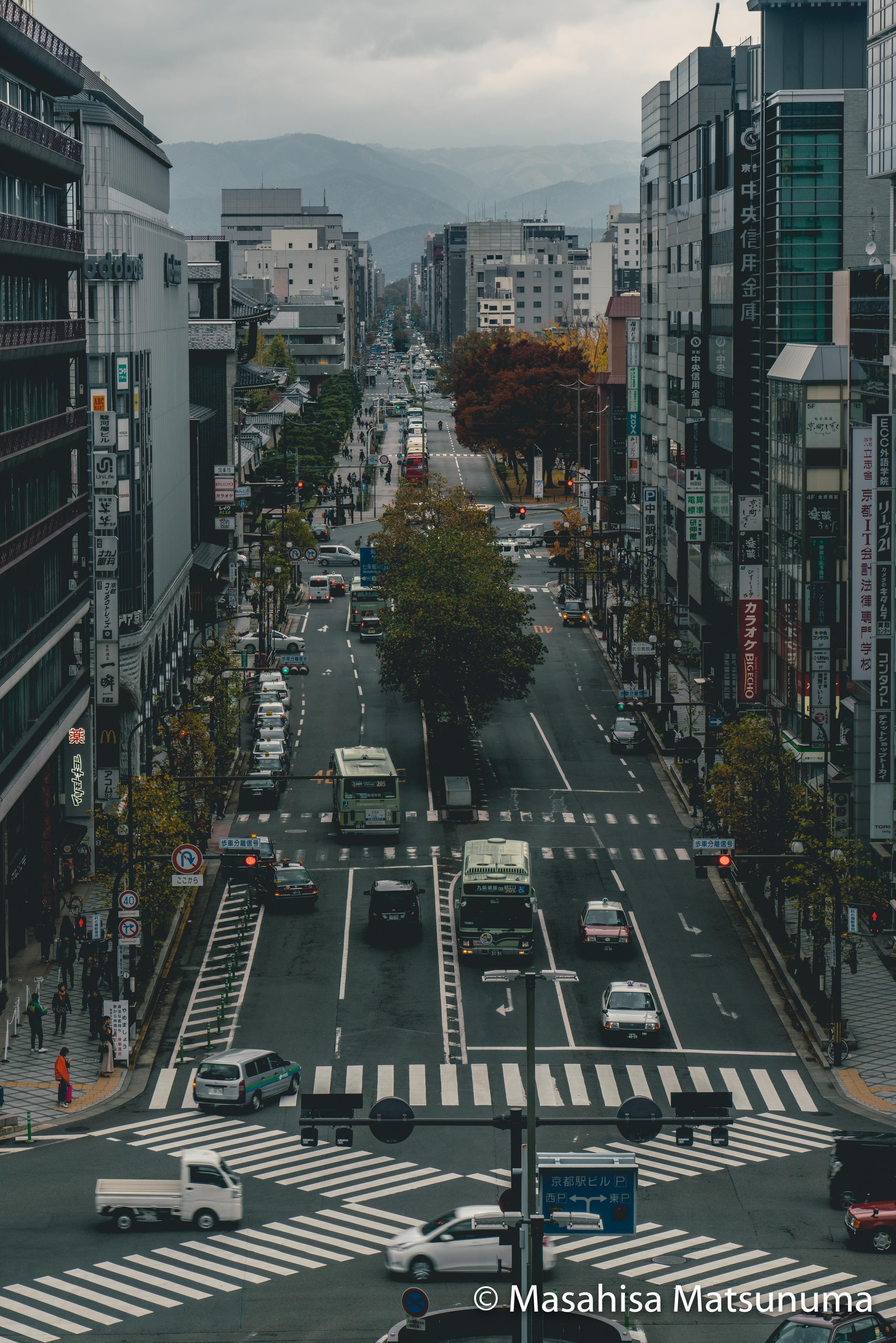 A view from Kyoto Station