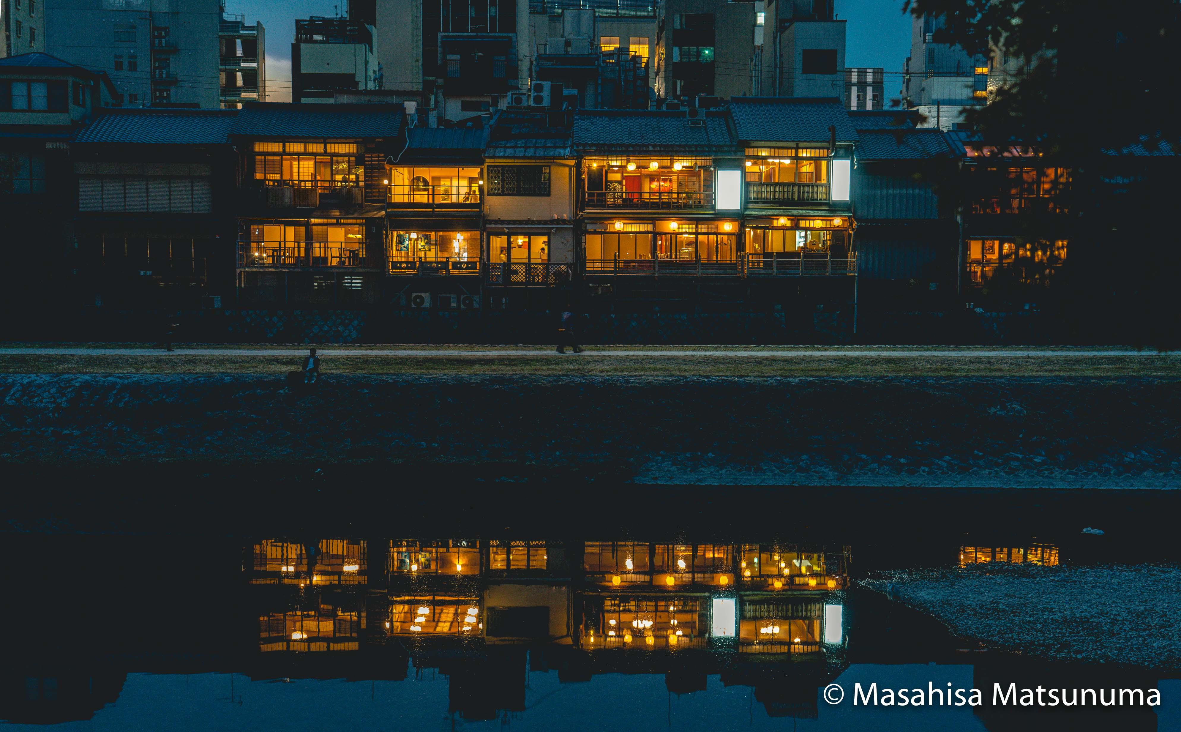 Kamogawa by night